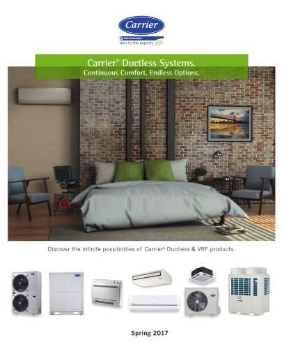 Carrier Ductless & VRF Product Family Trifold
