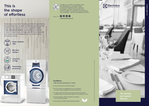 Electrolux Professional Line 6000 Washers and Dryers - Cleaning Shops