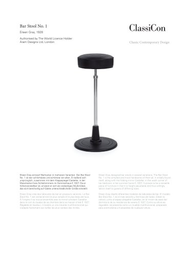 Bar Stool No. 1 1928