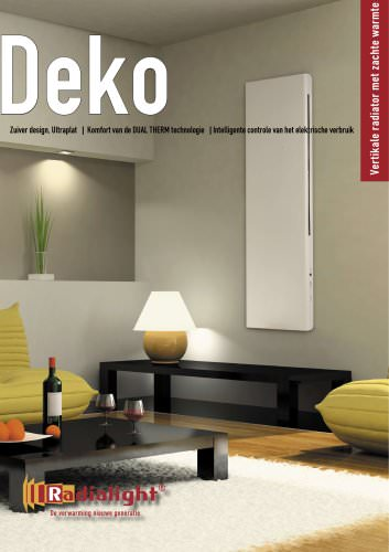 DEKO: Vertikale radiator met zachte warmte