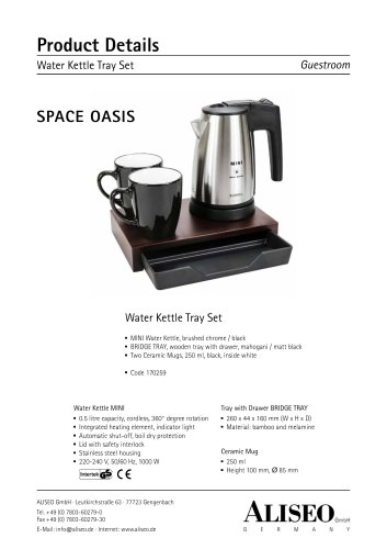 Water Kettle Tray Set