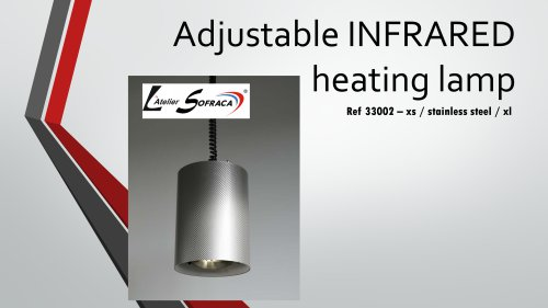 Adjustable infrared heating lamp-33002