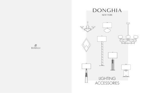 Donghia - 2018-2019 Furniture & Lighting Catalogue