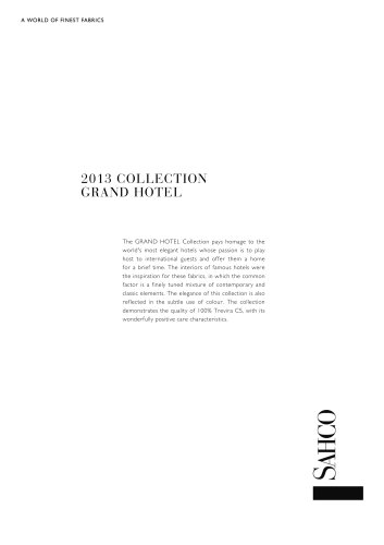 2013 COLLECTION GRAND HOTEL