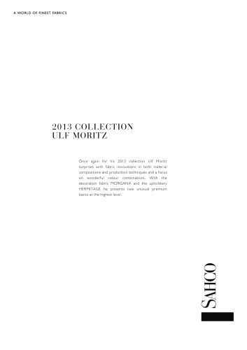 2013 COLLECTION ULF MORITZ