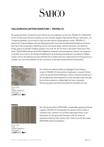 Trevira-CS-Collection 2010 SIGNATURE