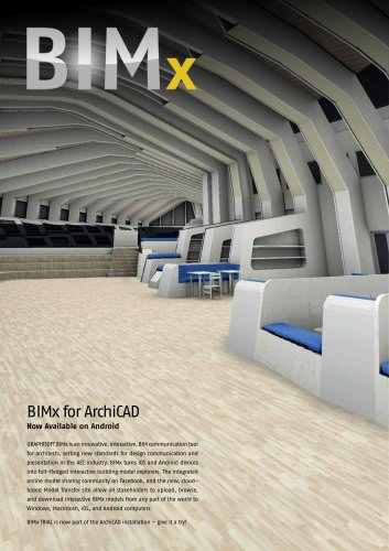 BIMx for ArchiCAD 16 flyer