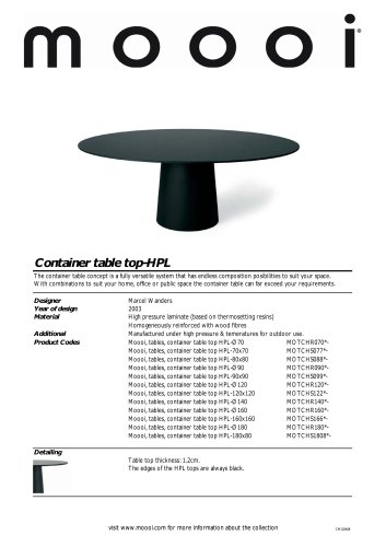 Container table 7030