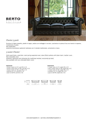 3 seater Chester Sofa