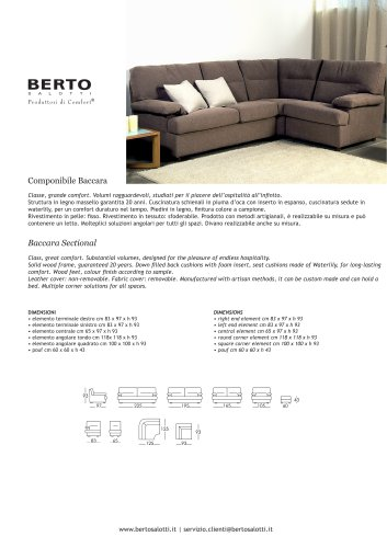 Baccara Sectional Sofa