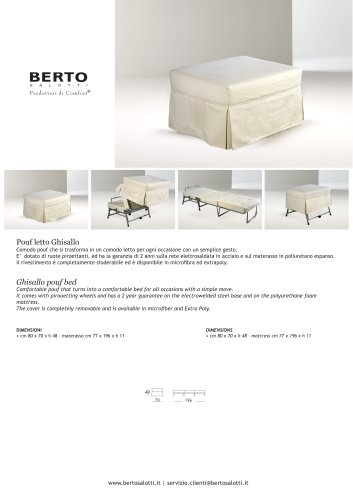 Ghisallo pouf bed