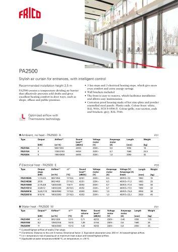 PA2500 A/E/W