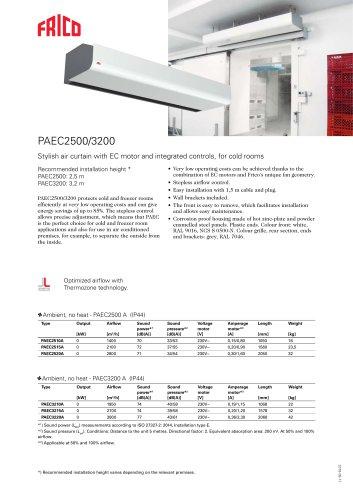 PAEC2500/3200