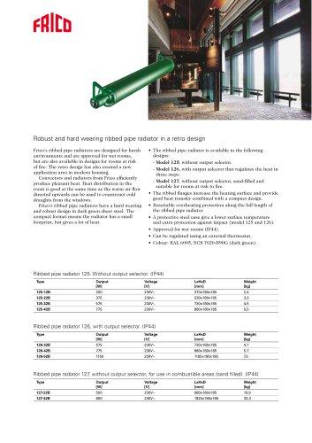 Ribbed pipe radiator