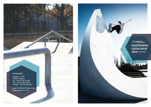SKATEPARKS CATALOGUE 2016