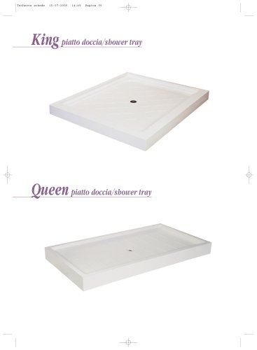 KING-QUEEN shower trays