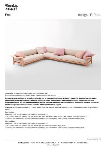 Frei - Three-seater sofa