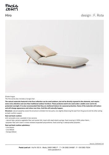 Hiro - Chaise longue