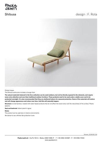 Shibusa - Chaise longue