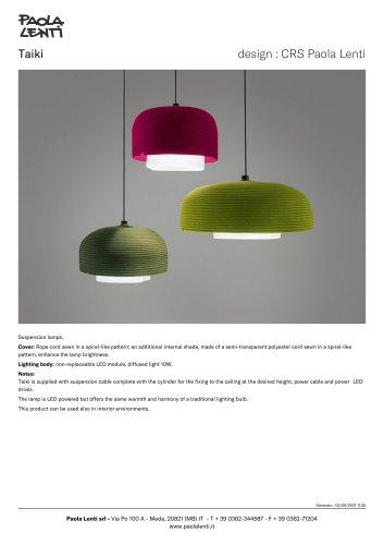 Taiki - Suspension lamps