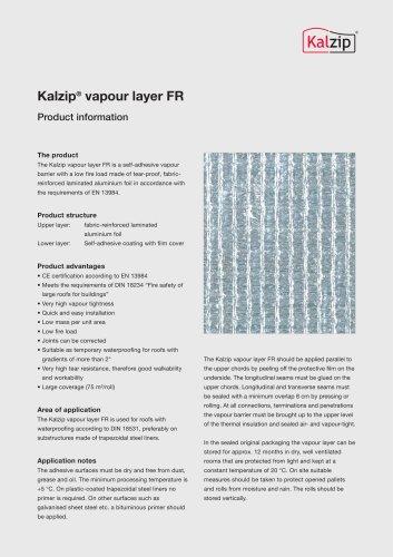 Kalzip® vapour layer FR