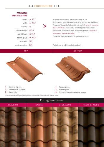 Roof system:Portoghese Tile