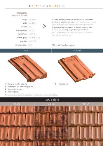 Roof system:Tac Tile