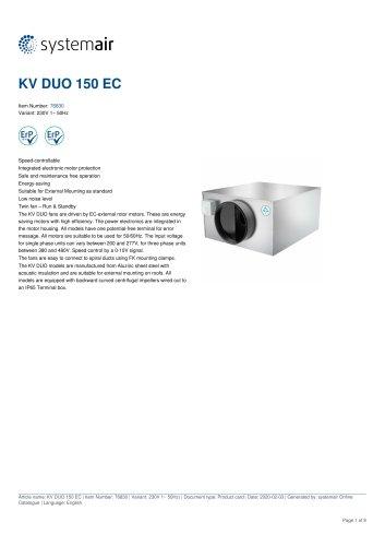 KV DUO 150 EC