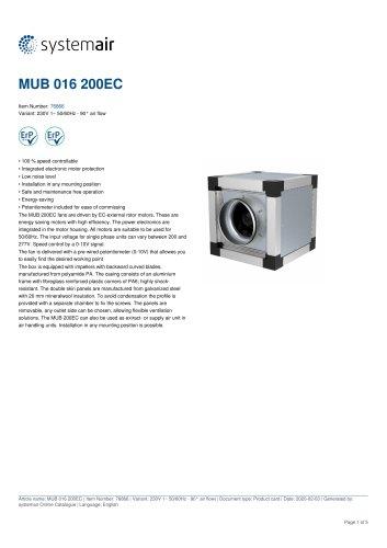 MUB 016 200EC