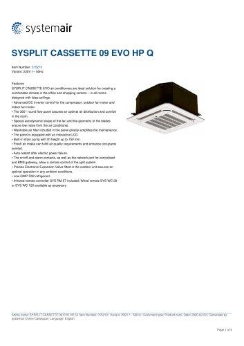 SYSPLIT CASSETTE 09 EVO HP Q