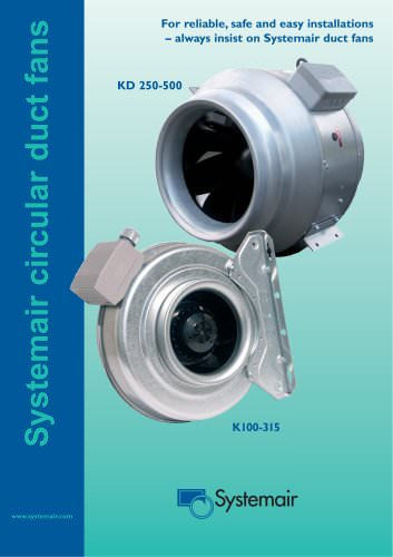 Systemair circular duct fans