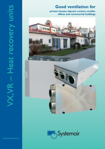 VX,VR – Heat recovery units www.systemair