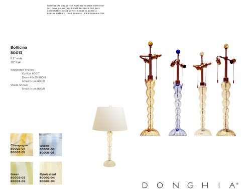 BOLLICINA LAMP