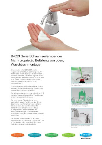 B-823 Serie Schaumseifenspender