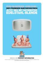 Baby-Wickeltisch mit Edelstahlfunier