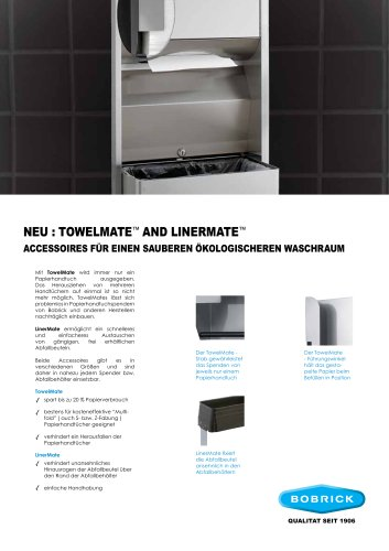 TowelMate und LinerMate Accessoires