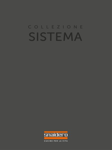 Catalogue Collection Sistema - Snaidero