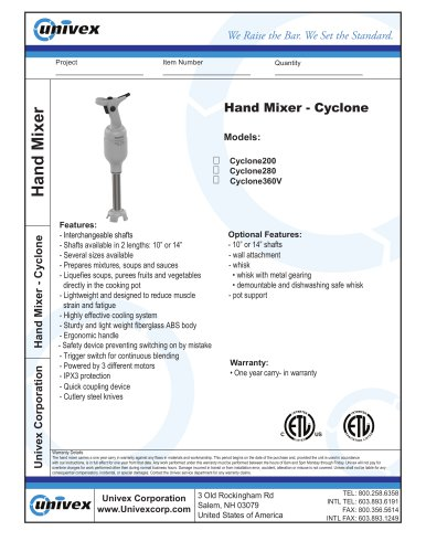 Hand Mixer-Cyclone