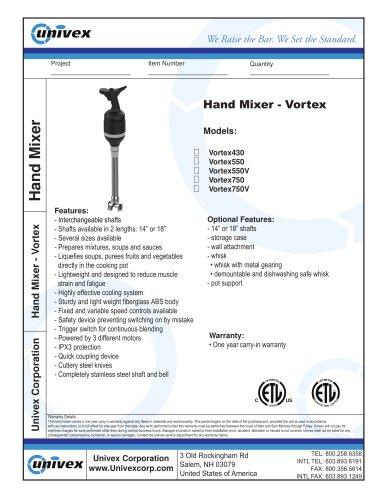 Hand Mixer - Vortex
