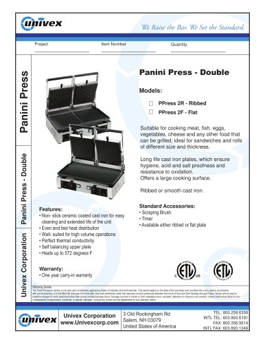 Panini Press - Double