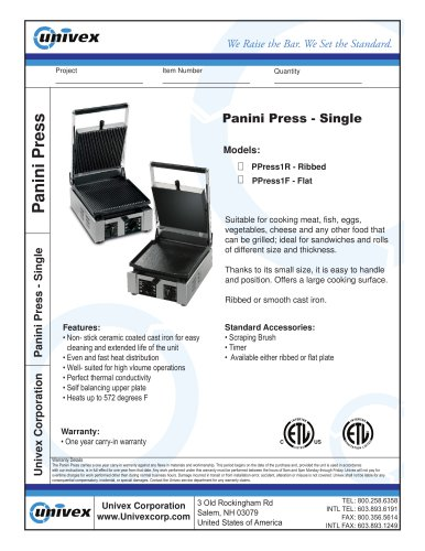 Panini Press - Single