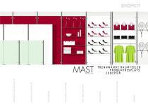 Mast Raumteiler