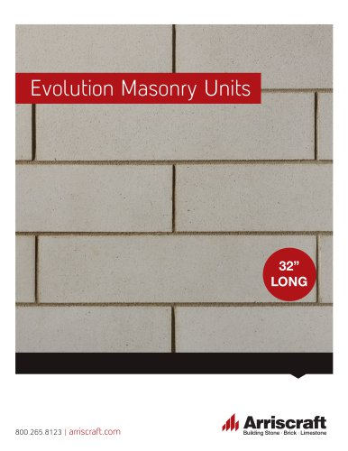 Arriscraft Evolution Masonry Units
