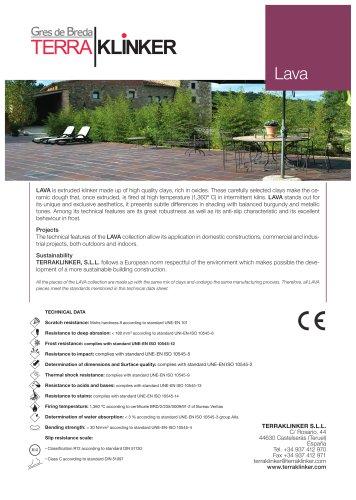 Technical data sheet LAVA