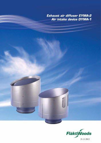 Exhaust air diffuser EYMA-2
