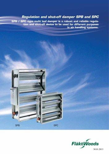 Regulation and shut-off damper SPB and SPC