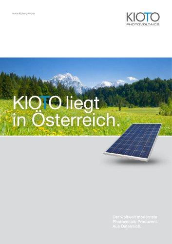 KIOTO Photovoltaics - Imagebroschüre PV