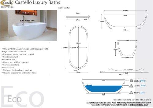 ECO FREESTANDING LUXURY OVAL DESIGNER BATH