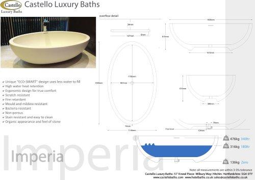 IMPERIA LARGE FREESTANDING LUXURY OVAL DESIGNER BATH