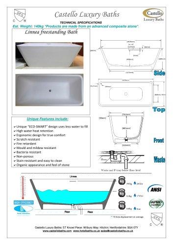 Linnea luxury freestanding rectangular bath